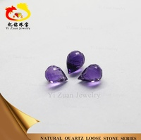sell well cuspidal water drop shape facet amethyst loose gemstones jewelry