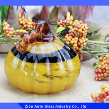 Morden Art Glass Pumpkin For Hallowen Decoration