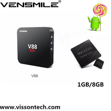 Bán sỉ New arrival RK3229 V88 Quad Core RK3229 Android5.1 1 GB/8 GB RK3229 tv box