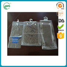 Eco friendly pvc hanger button bag for hair extension with high quality