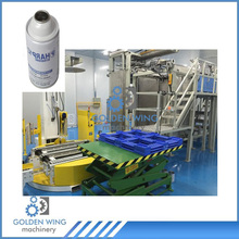 Automatic palletizer machine for bottle aerosol spray paint tin can packing