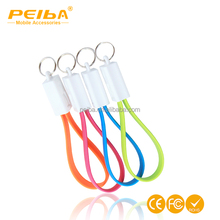 USB Cable Keychain 2 in 1 Sync Data Charging Cables For iPhone 5 6 6S IOS Xiaomi Redmi Note 4 3 Pro 3S Pro Android