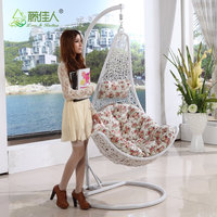 China Manufacturer Cheap Stackable Indoor Outdoor Wicker Rattan Bedroom Hanging Swing Chair Without Frame With Cushion