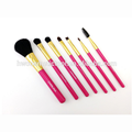 New products many colors oval makeup brush set with box