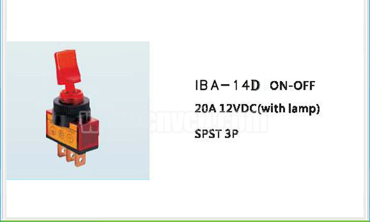 AS19 IBA-14D ON-OFF Toggle Switch with Green LED Indicator lamp SPST 3P Car Toggle Switches