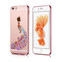 Newest Electroplate Luxury Crystal bling bling Transparent soft tpu Phone Cases Cover For Apple mix colour