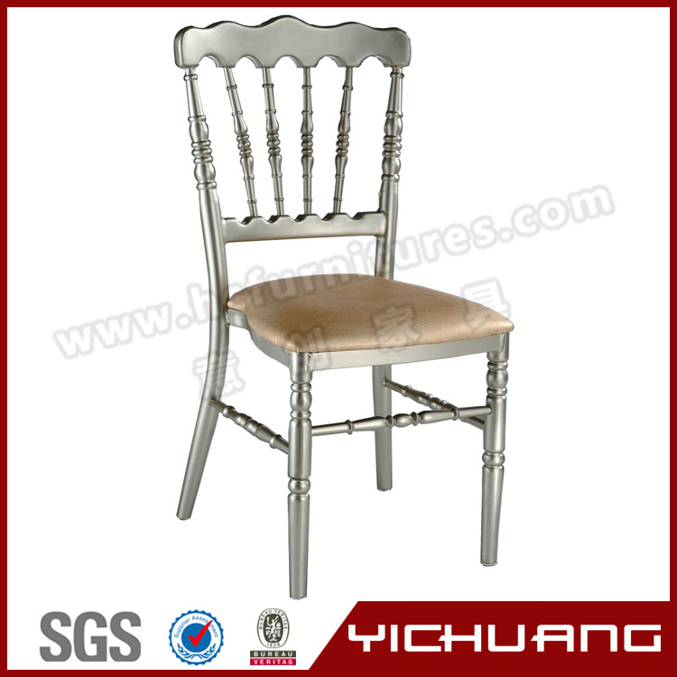Aluminum chair frame for hotel dining room chair for sale napoleon wedding chairs YC-A32