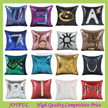 Double Sided Glitter Sofa Cushion Cover Reversible Sequin Mermaid Pillow