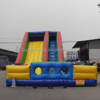 2017 hot giant adult inflatable slide