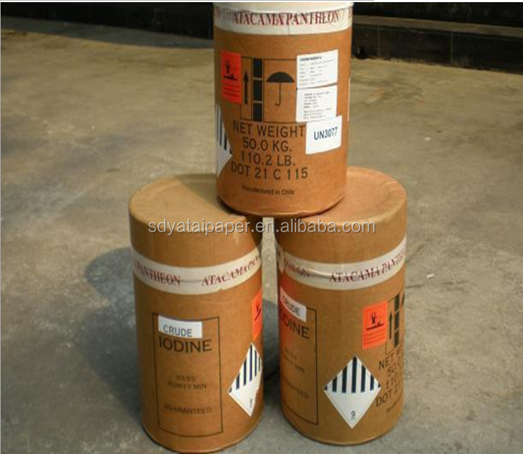 Pharmaceutical material Iodine 50KG drum good quality crude iodine crystal