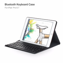 ROCK Bluetooth Magnetic Detachable Keyboard Case For ipad pro 9.7 Kickstand Tablet Case MT-5904