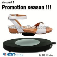 new invention ! magnetic levitating led display stand for shoe woman,italy design shoes matching bags