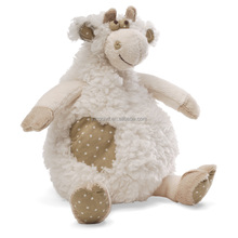 Wool soft quality stuffed animal plush funny 10inches cow toy for kids
