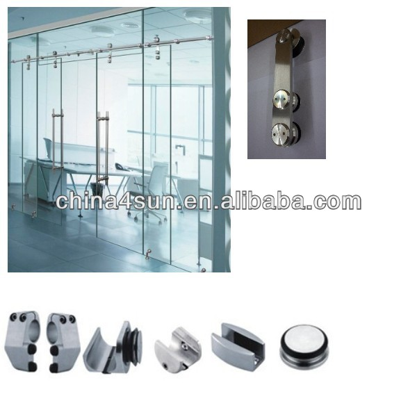stainless steel moving door pulley for 8-12mm glass