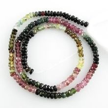 AAA Quality Loose Gems Stone beads Faceted Multi Tourmaline