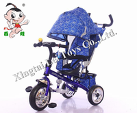 Wholesale exercise safety three wheel child tricycle metal bicycle,half laying high back baby bike tricycle for kid with brake