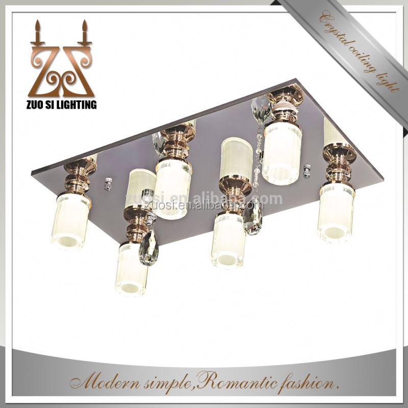 Latest Hot Selling metal modern crystal ceiling lamp