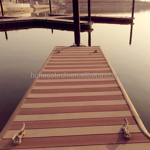 Marina boat dock yacht port wood plastic composite decking for Plastic composite decking