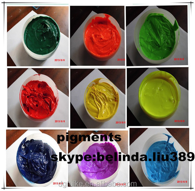 textile used color pigment for silk screen printing silicone ink