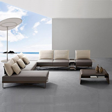 Fashion Outdoor/Indoor Furniture Sofa Set Modern Metal Sectional Sofa