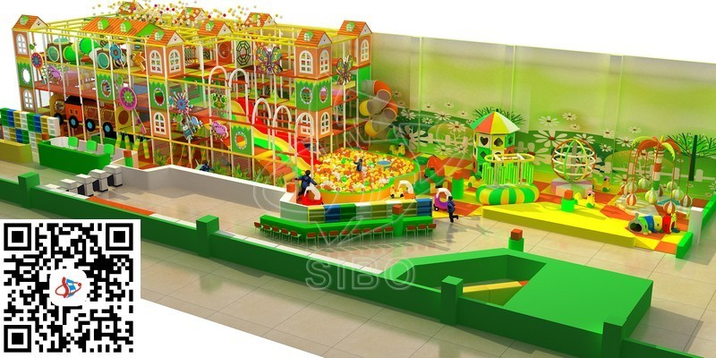GM20160708 Guangzhou Sibo indoor plastic playgrond colorful theme naughty castle