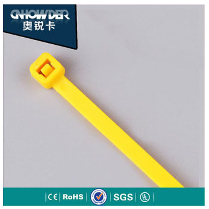 Hot selling plastic zip ties self-locking coloured cable ties