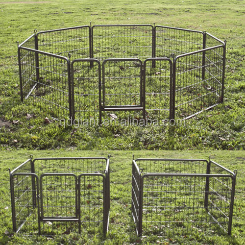 high quality outdoor large steel dog cage / dog fences for sale