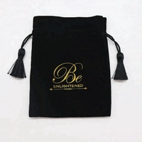 High Quality Wholesale Velvet Jewelry Pouch/Black Velvet Pouch /Customized Velvet Bag