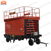 10m electric scissor lift/scissor lift china track