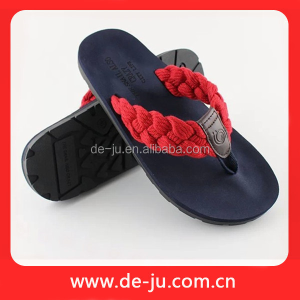Polyester Weave Latchet Woman Nude Beach Slippers