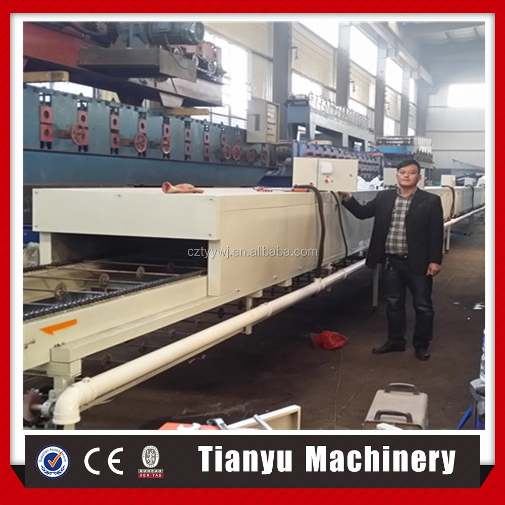 Tianyu Stone Glue on Steel Plate Forming Machine For Sale