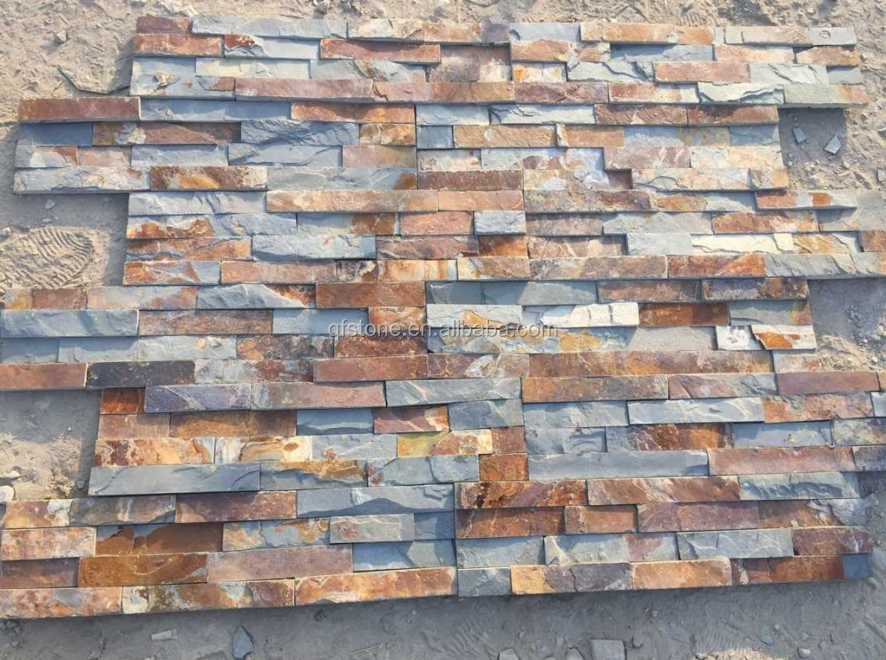 Cheap Stacked Stone Natural Interior Rusty Slate Stone Wall Panels Buy Natural Interior Rusty