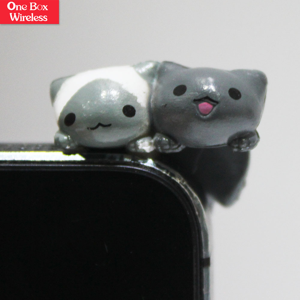 Fashion Cat Dust Plug ,Cartoon Ear Cap Plug Mobile Dust Plug, Silicon Dust Plug For Smart Phones