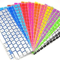 Siliocne Cover For Macbook Keyboard Colorful