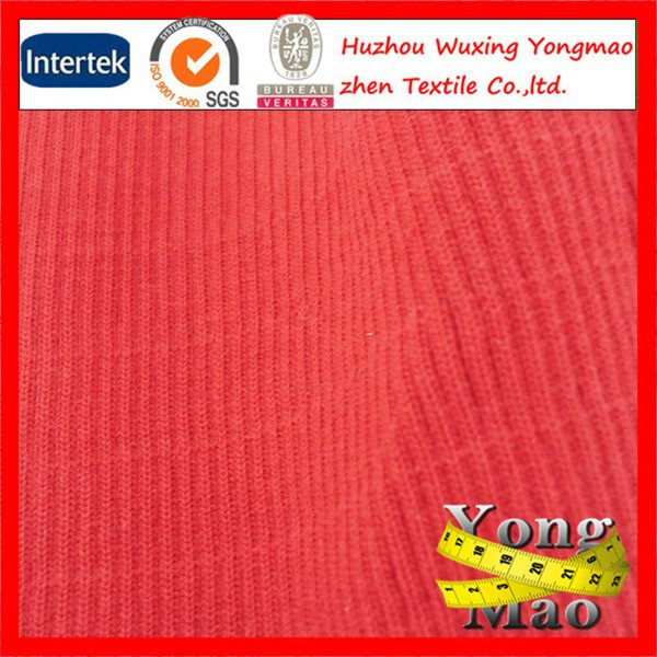 2014 huzhou Suppliers Cheap And High Quality Ottoman rib Knit Fabric