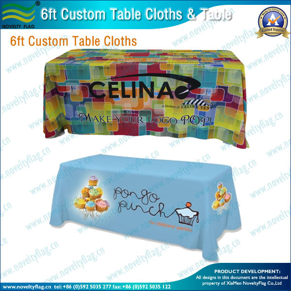 fitted table cover dye sublimation