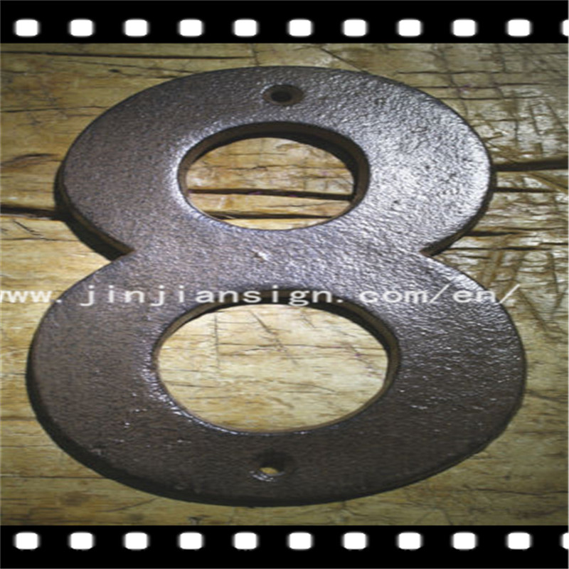 Hot sell outdoor building cast iron metal channel 3D number letters