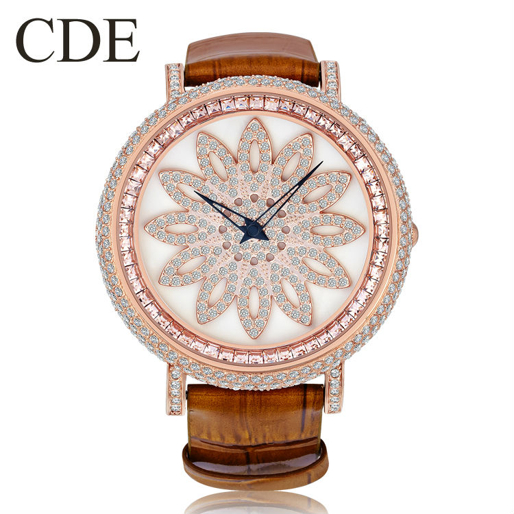 CDE Women Crystal Vogue Watch,China Wholesale Luxury Lady Watch