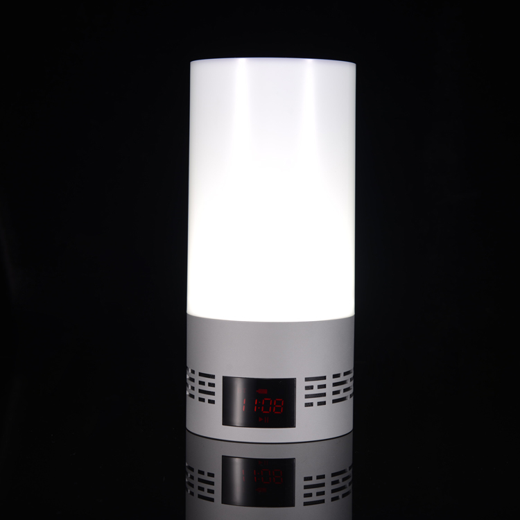 hot sale Custom logo led lamp Wireless Bluetooth digital speaker processor with app