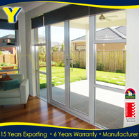 For entrance large opening area double glazed casement Aluminum Main Door
