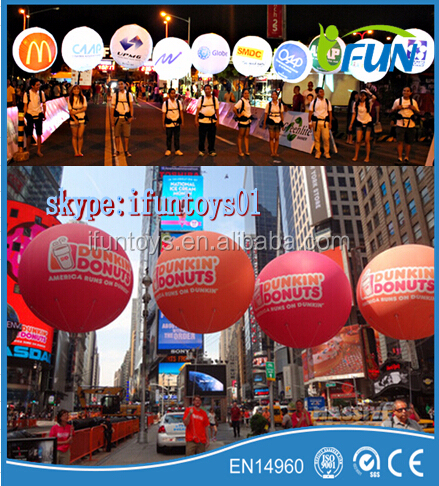 inflatable walking balloon backpack advertising
