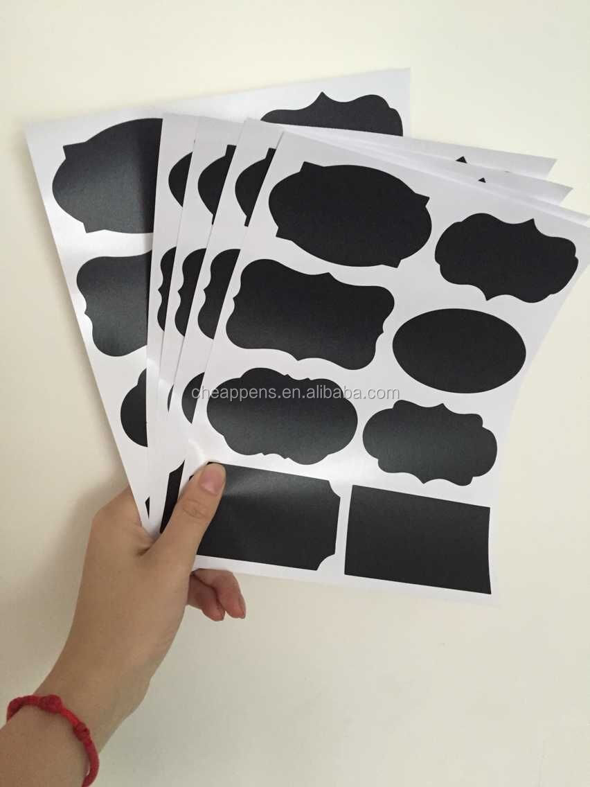 waterproof Black  Chalkboard Stickers Small Labels, Adhesive Blackboard Stickers