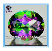 Charming Bling Bling 2.20 Ct. Oval Shaped Mystic multi-color cubic zirconia stone