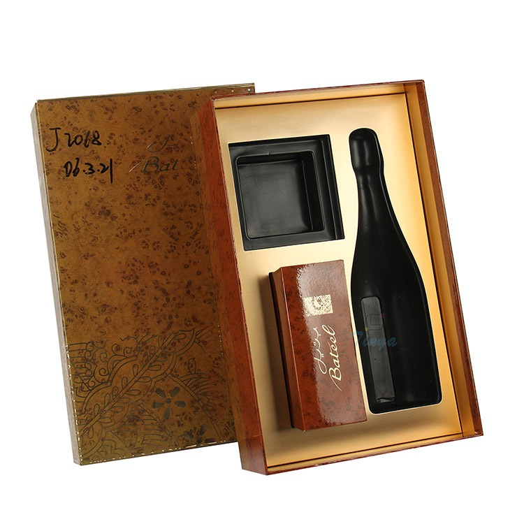 luxury presentation gift packaging boxes for wine bottles