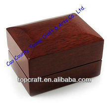 2012 Find Supplier of Luxury Wooden Dark Brown Wedding Ring Box