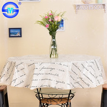 "Factory Wholesale plastic tablecloth round 108"" plastic-coated fabrics for tablecloths"