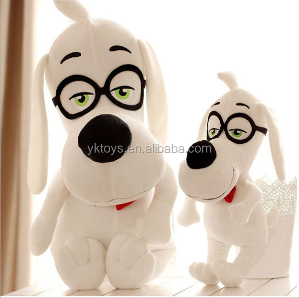 The new listing Genius glasses dogs stuffed doll