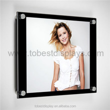 fashion clear cheap acrylic picture frames wall mount/acrylic magnetic photo frame/acrylic hanging photo frame