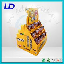 China factory eye catching cardboard stand display chocolate with 8 years Experience