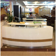 Customize Modern Office Furniture Reception Desk, standard office desk dimensions,solid surface bank reception desk counter